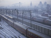 Eiszapfen erschlägt Frau in St Petersburg