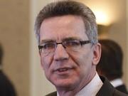 Innenminister Thomas de Maizière; Reuters