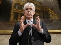 Italiens ehemaliger Premierminister Mario Monti will Koalition der Mitte anführen