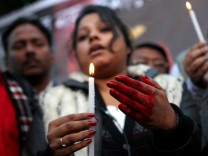 Protest against the recent brutal gang-rape in New Delhi