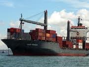 Das von Piraten entführte Hamburger Containerschiff Hansa Stavanger. Foto: dpa