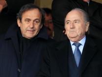 Michel Platini  und Sepp Blatter.