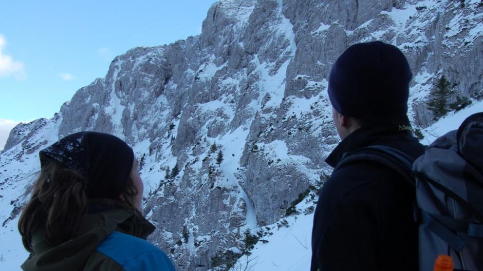 Ski Mit Schneeschuhen auf die Benediktenwand