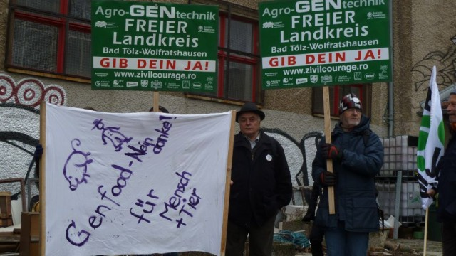 Zivilcourage Demonstration von Landwirten