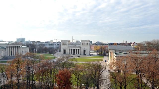 Königsplatz vom Dach der Musikhochschule