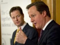 David Cameron und Nick Clegg