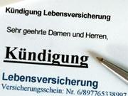 Kündigung der Lebensversicherung, Foto: dpa