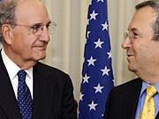 George Mitchell Ehud Barak AFP