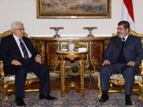 Abbas im Gespräch mit Mursi