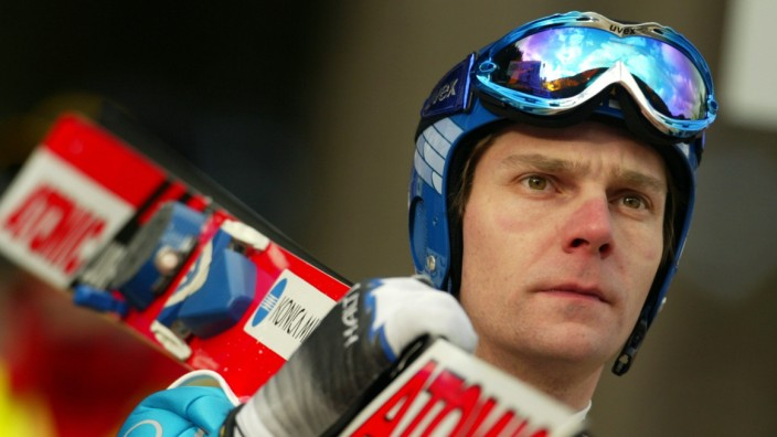 Ahonen of Finland reacts during ski jumping World Cup in Titisee-Neustadt