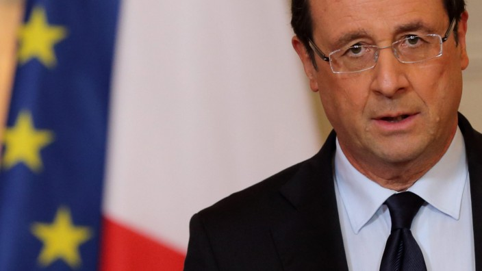 Frankreichs Präsident François Hollande; Militäreinsatz Mali