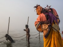 Hindu Indien Hindufest Kumbh Mele Ganges Allahabad  Sadhu Nordindien Yamuna