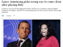 Lance Armstrong Reaktionen