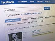Rechtsextremistisches Facebook-Profil; dpa