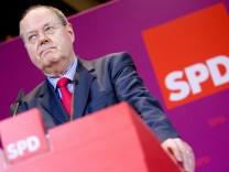 Landtagswahl Niedersachsen - SPD-Kanzlerkandidat Peer Steinbrück