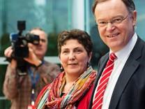 Pressekonferenz von SPD und Gruenen Niedersachsen