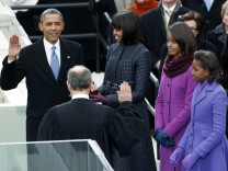 Mode der Familie Obama: Harmonie in Lila