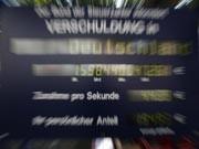 Mobile Schuldenuhr des Bundes der Steuerzahler Hessen, Foto: ddp