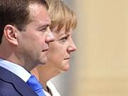 Merkel Medwedjew dpa