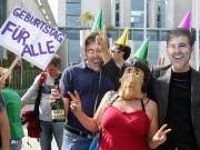 Protest gegen Ackermann, dpa
