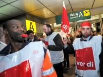 Streik auf dem Flughafen Düsseldorf