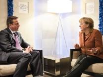 Europa David Cameron Angela Merkel Austritt Referendum Großbritannien