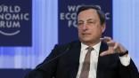 EZB-Chef Mario Draghi in Davo