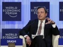 EZB-Chef Mario Draghi in Davo