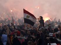 Ägyptische Fußballfans in Kairo