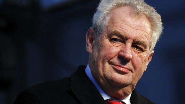 Milos Zeman Präsident Wahl Tschechien Vaclav Klaus Karel Schwarzenberg