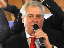 Milos Zeman Tschechien Wahl Präsident