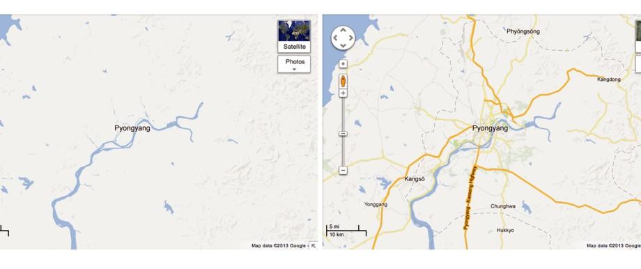 Google veröffentlicht Nordkorea-Karten