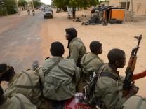 Malische Soldaten in Timbuktu