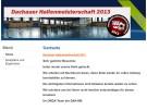 Internetseite der Dachauer Hallenmeisterschaft