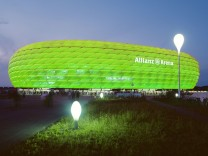 Allianz Arena in Grün