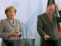 Kanzlerin Merkel und Kanzlerkandidat Peer Steinbrück