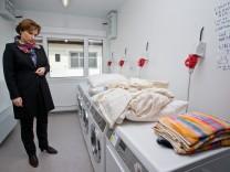 Neue Wohnmodule in Flüchtlingslager Zirndorf