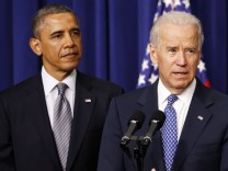 Vice President Joe Biden speaks at a news conference before U.S. President Barack Obama unveils a series of proposals to counter gun violence during an event at the  White House in Washington