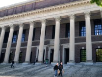 Die Widener Bibliothek der Harvard University.