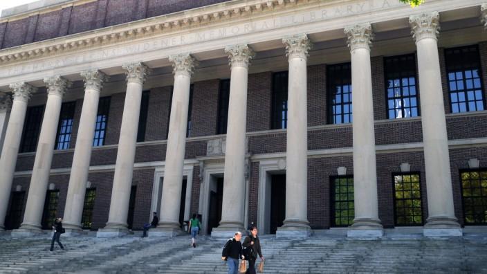 Die Widener Bibliothek der Harvard University.