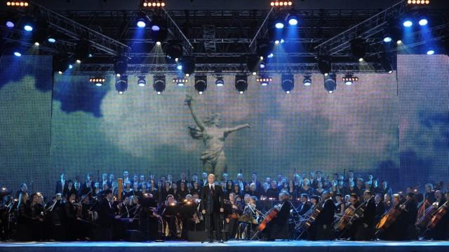 Präsident Wladimir Putin Festakt in Wolgograd.  Stalingrad