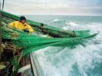 Fischer beim Angeln auf See