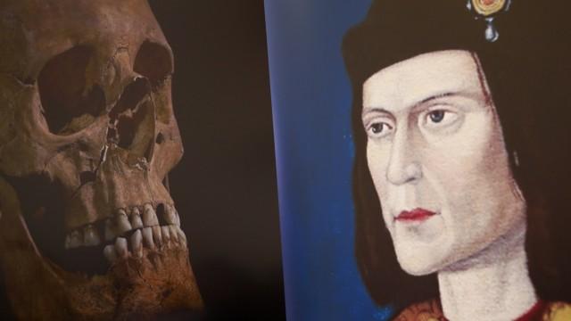 Richard III. - Schädel und Porträt