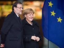 Rajoy Merkel Berlin