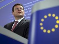 EU-Kommissar  Sefcovic zu einer europäischen Bürgerinitiative