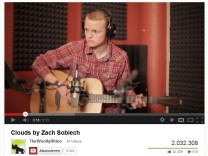 "Zach Sobiechs Video ""Clouds"" auf Youtube"