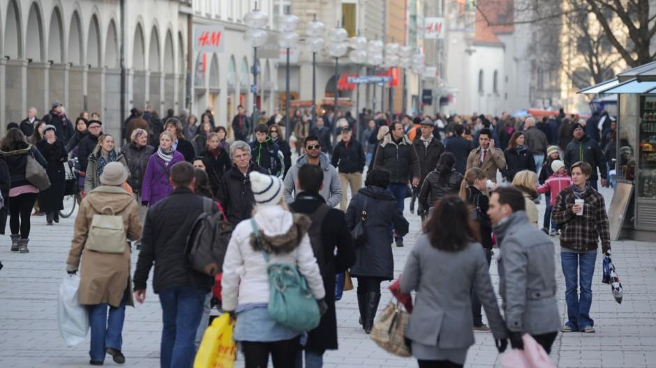Fußgängerzone in München, 2011