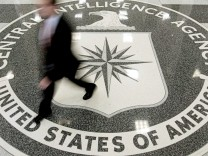 File photo shows the lobby of the CIA Headquarters Building in McLean, Virginia