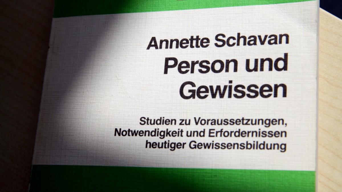 schavan person und gewissen dissertation