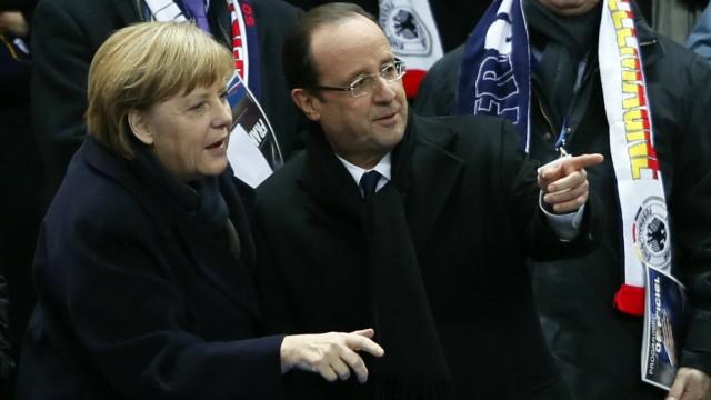 Kanzlerin Merkel und Präsident Hollande